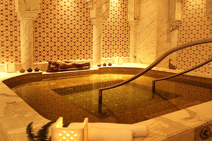 LOVE AND LIGHT | Experience the warmth of the Jacuzzi at the spa which is ensconced in this intricately designed chamber