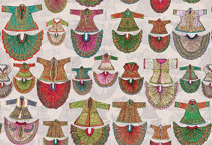 Ceremonial costumes from Rajasthan to liven up the walls