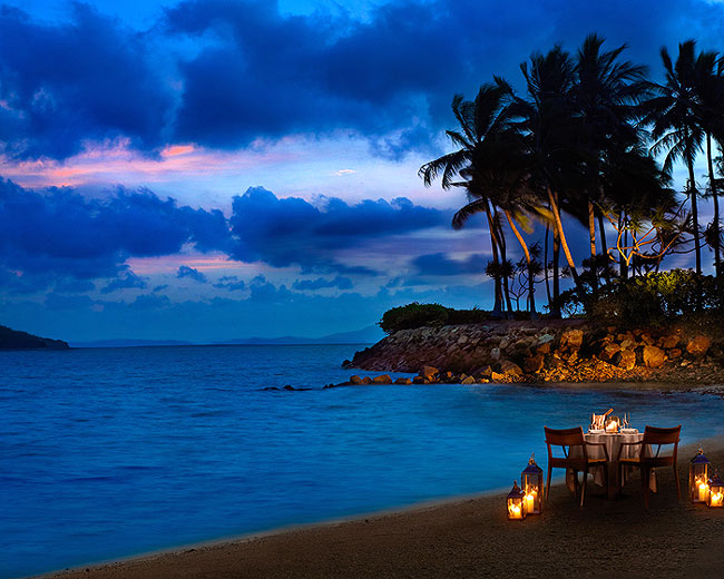 ONE&ONLY HAYMAN ISLAND | sun, surf and sand are not the only graces of this plush resort, as secluded dining for two at the beach, under the starlit sky, and by the Coral Sea promises to be a one-off gourmet experience