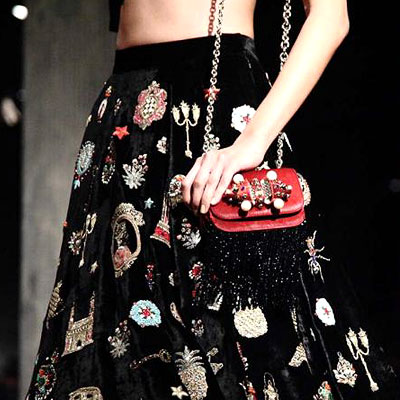 Shoes and bags from the union of Sabyasachi and Christian Louboutin