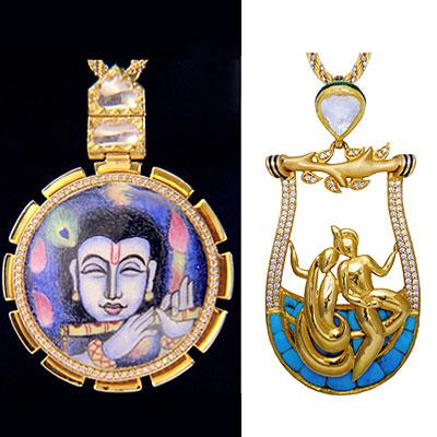 Zoya's Krsna Collection features the Bhagwat Gita on a Nano chip