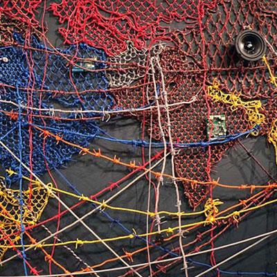 Reena Kallat's giant world map at the MOMA highlights global refugee crisis