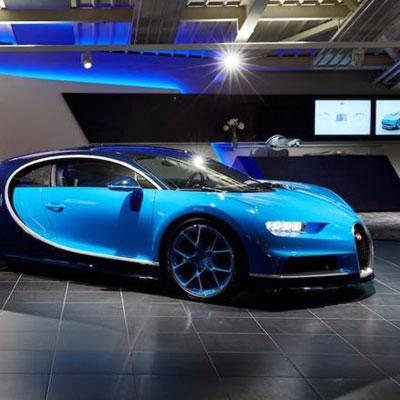 Another swish Bugatti showroom in the Swiss Alps