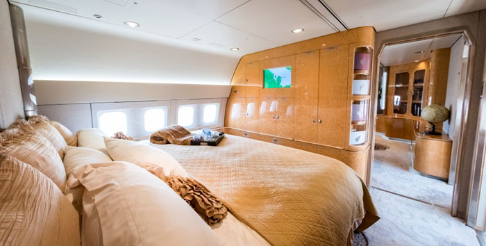 ROUND THE GLOBE | A Boeing 767 outfitted for ultra-high net worth clientele