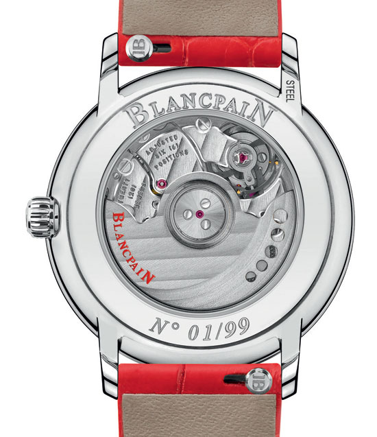 The movements used for the Blancpain St. Valentine's Day watches are all mechanical