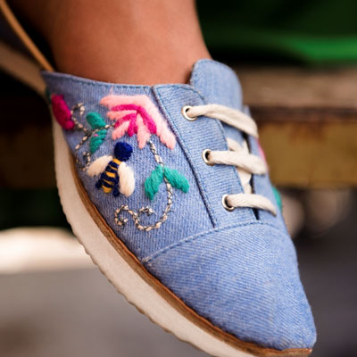 Here's to a pair of Indie sneakers by Fizzy Goblet