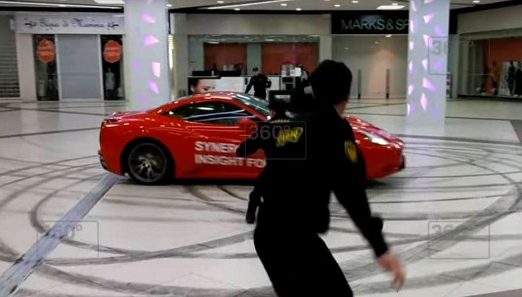 Former Russian Mayor drives Ferrari inside mall as a joke!