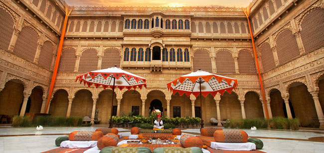 A sundowner at the Lakhmana dunes and the halwai breakfast are highlights of a wedding here
