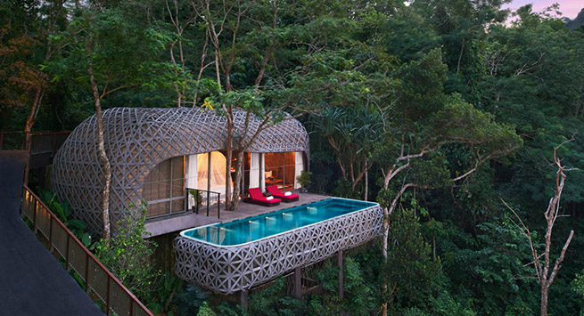 Nestled in glorious greenery, Keemala's pool villas are incredible architectural anomalies