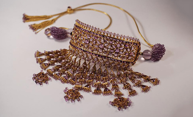 People come to Gem Palace looking for timeless designs, traditional but contemporary like this amethyst necklace