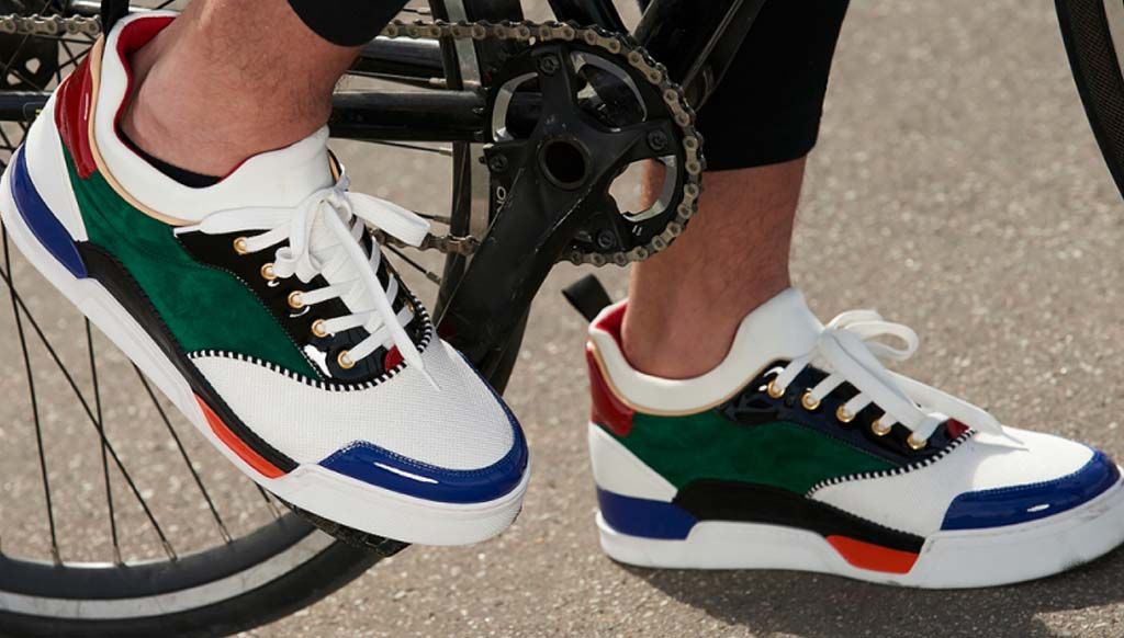 Christian Louboutin creates the Aurelian sneaker for Pitti Immagine Uomo 92nd edition