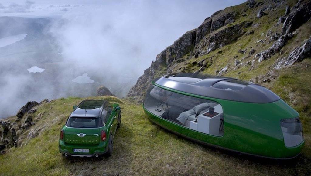 Check out this cool Camping Pod inspired by the Mini Cooper