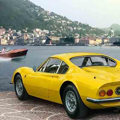 Lake Como luxury vintage Ferrari experience with Mandarin Oriental Milan