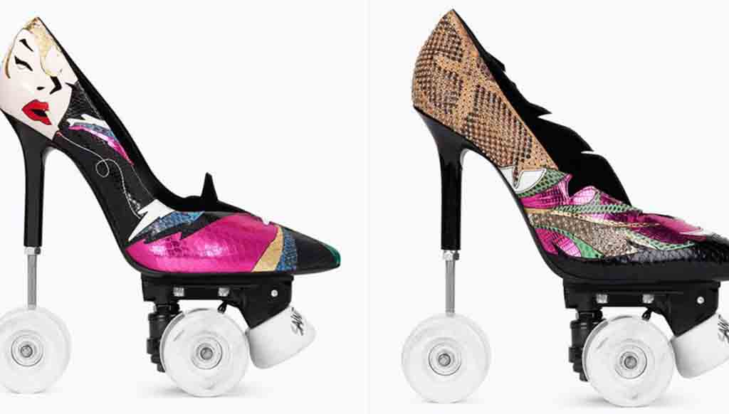 Fancy a pair of Stilleto Roller Skates from Yves Saint Laurent?