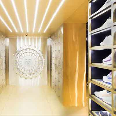 Check out this vault-themed shoe store in Thailand