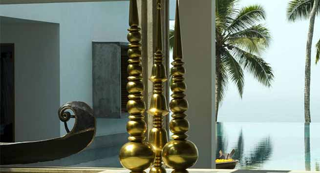 Brass is the primary material in almost all of Viya Home's collections.