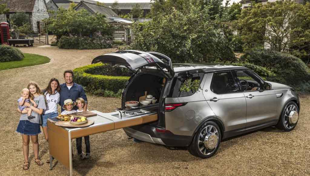 Jamie Oliver's Kitchen-On-Wheels Land Rover