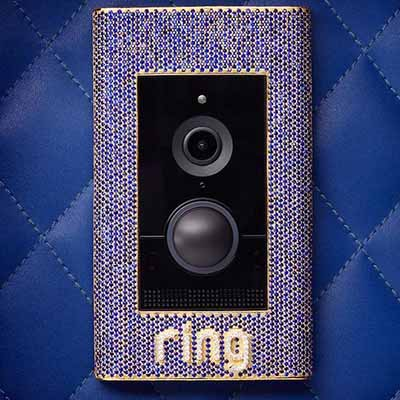 World's most expensive doorbell, covered with sapphires and diamonds