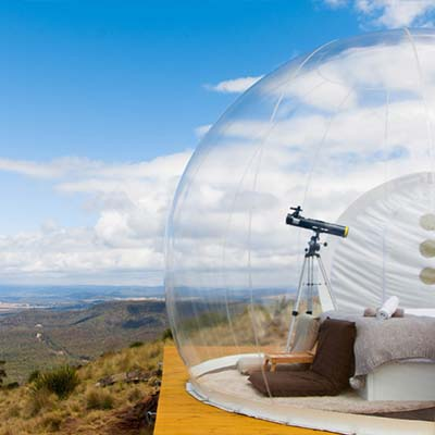 Camping in a bubble: the Australian dream
