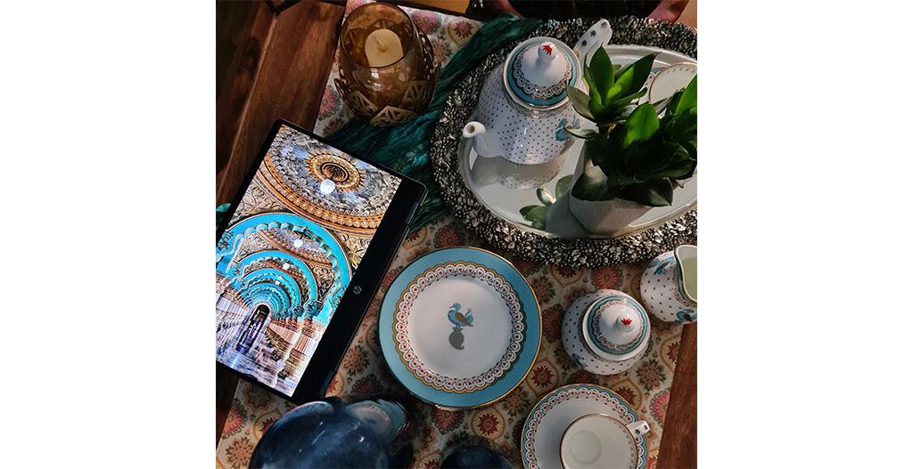 Bring the Royalty of Mysore home through Dasara tableware collection by Kaunteya